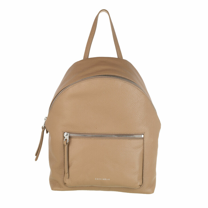 Handtasche, Coccinelle, Handbag Grained Leather Taupe