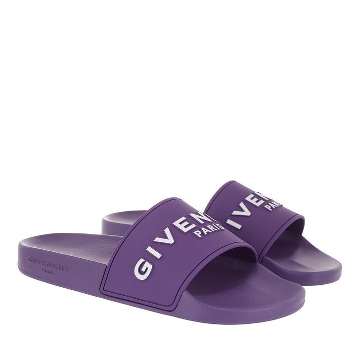 Schuh, Givenchy, Logo Flat Slipper Purple