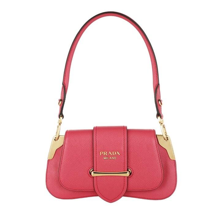 bags, Prada, Sidonie Shoulder Bag Leather Magenta