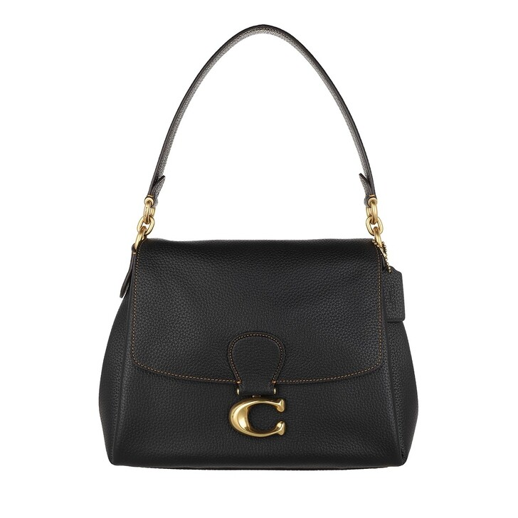 bags, Coach, Soft Pebble Leather May Shoulderbag Black
