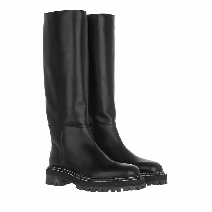 shoes, Proenza Schouler, Calf Softy Flat Boot  Black