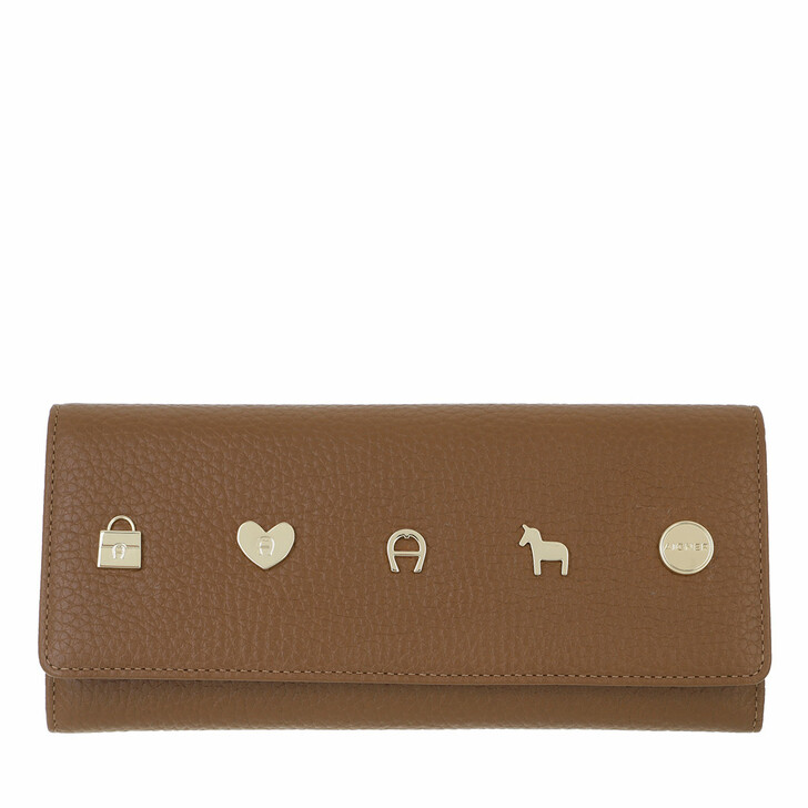wallets, AIGNER, Fashion Wallet Dark Toffee Brown