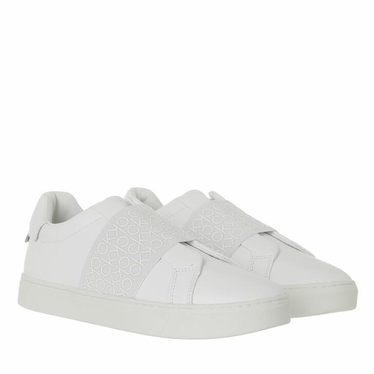 shoes, Calvin Klein, Slip On Triple White