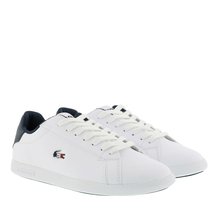Schuh, Lacoste, Graduate Tri White Navy Red