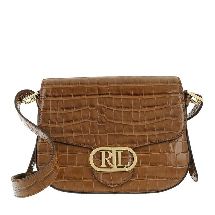 bags, Lauren Ralph Lauren, Addie 24 Crossbody Medium Deep Saddle Tan