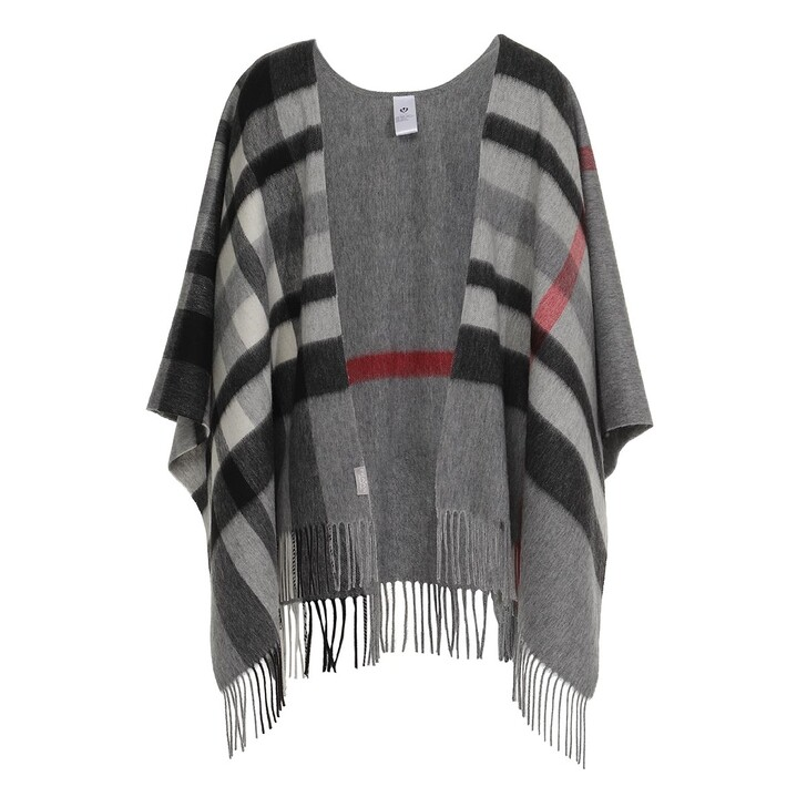 Schal, FRAAS, Ruana Wool Mid Grey