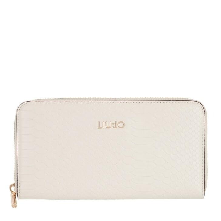 Geldbörse, LIU JO, X-Large Zip Around Wallet Alabaster