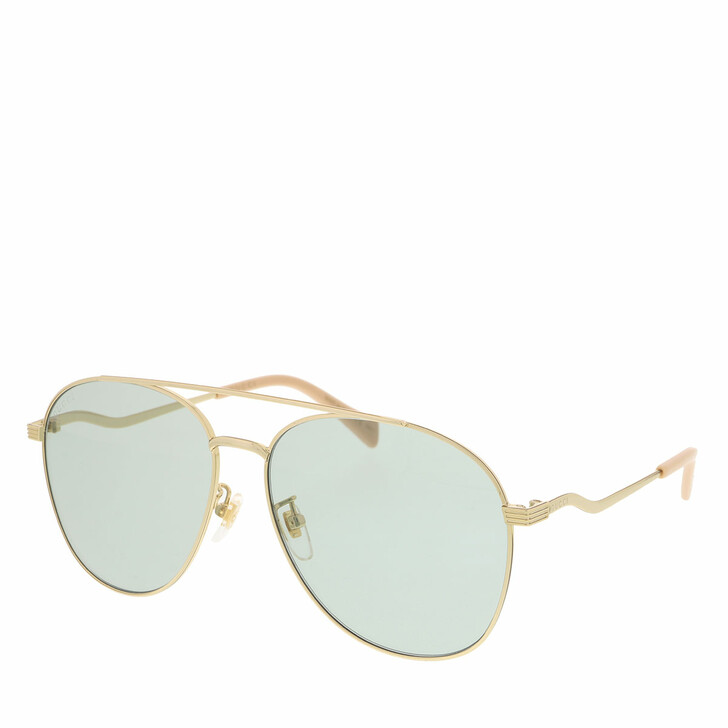 Sonnenbrille, Gucci, GG0969S-003 59 Sunglass WOMAN METAL GOLD