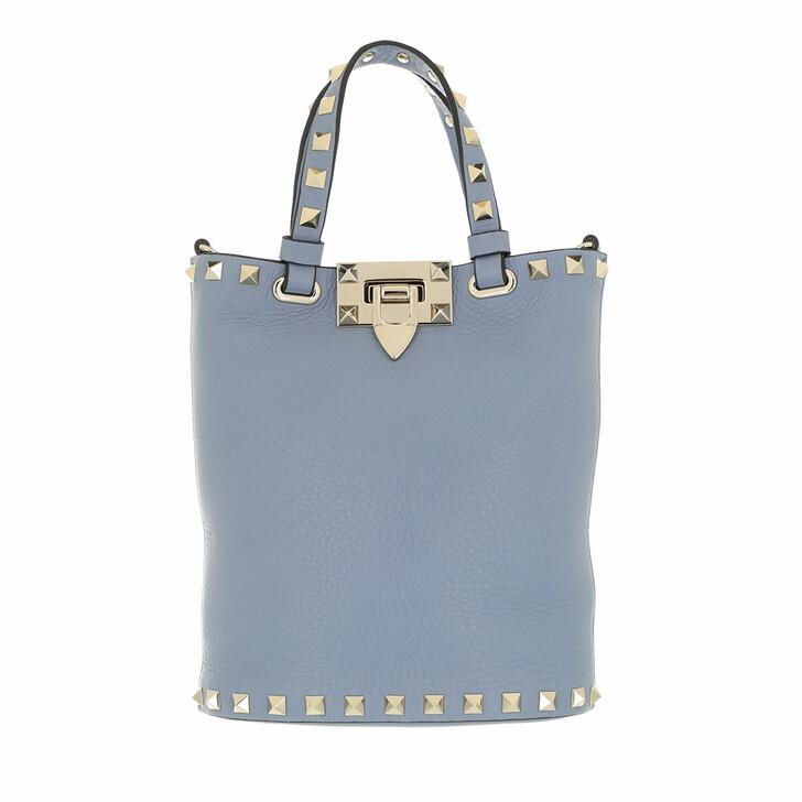 bags, Valentino Garavani, Rockstud Pouch Niagara Blue