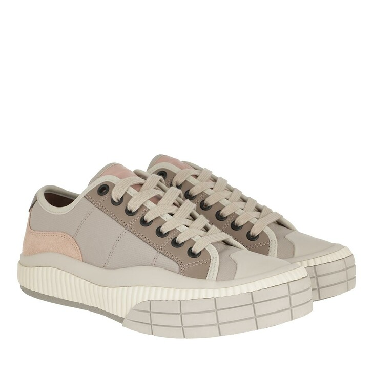 shoes, Chloé, Clint Low Top Sneakers Leather Rose Multi