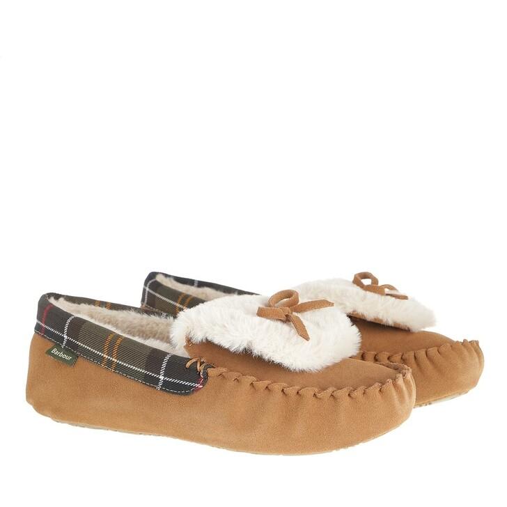 shoes, Barbour, Darcie Suede Moccasins Slipper Tan