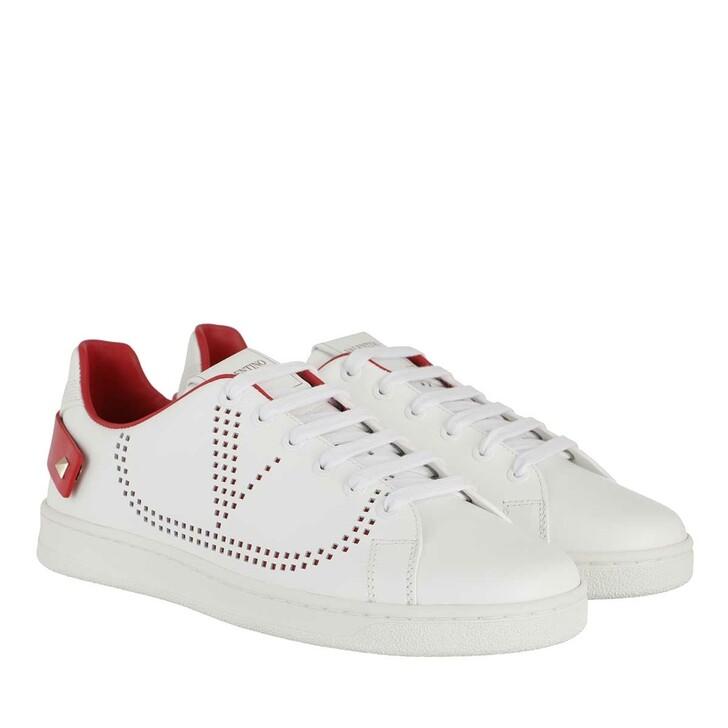 Schuh, Valentino Garavani, V Low Sneaker White/Red