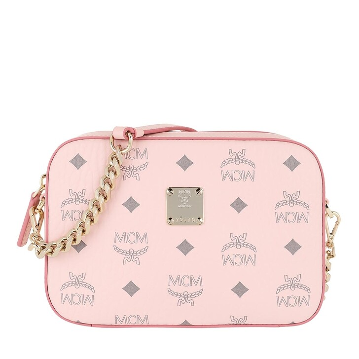 Handtasche, MCM, Mini Visetos Original Camera Crossbody Bag Powder Pink