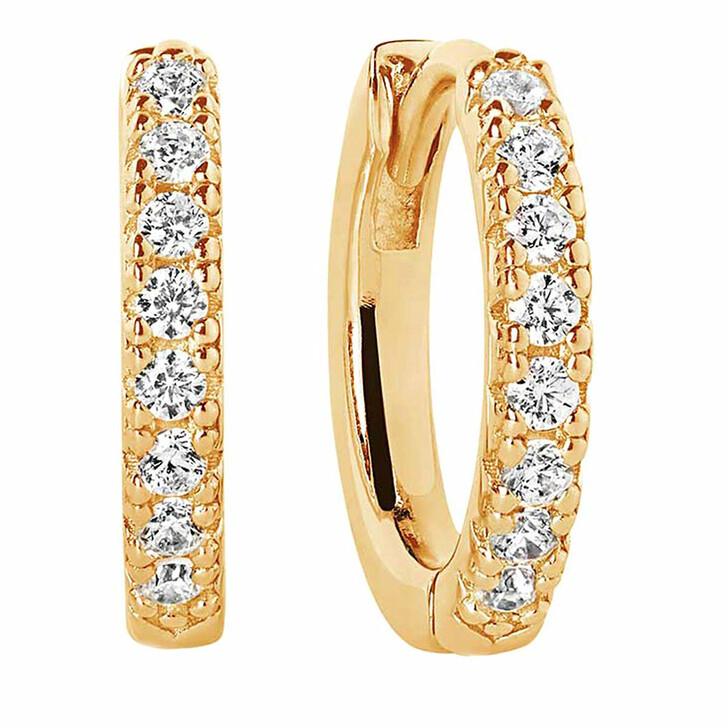 earrings, Sif Jakobs Jewellery, Ellera Earrings Medio 18K Yellow Gold Plated