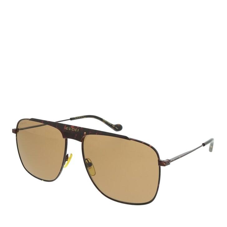 Sonnenbrille, Gucci, GG0909S-002 63 Sunglass MAN METAL HAVANA