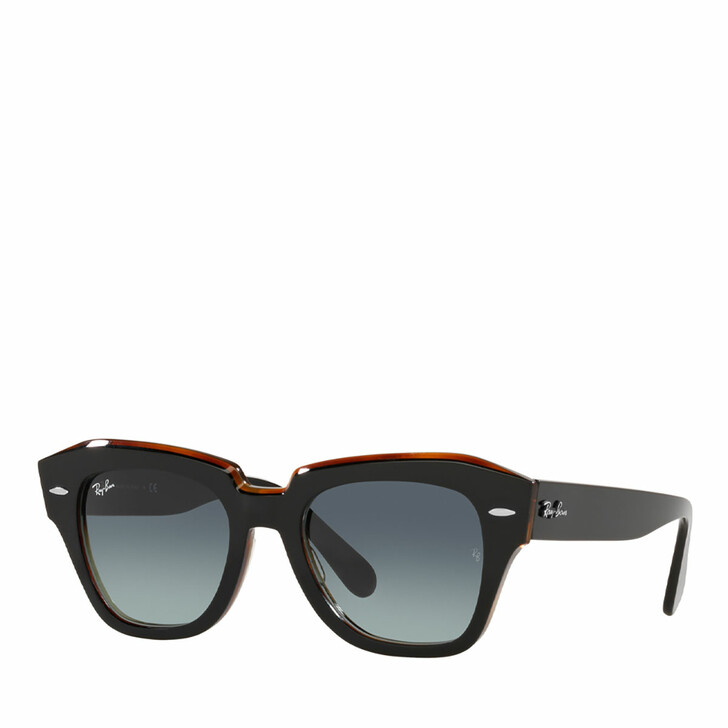 sunglasses, Ray-Ban, 0RB2186 BLACK ON TRANSPARENT BROWN