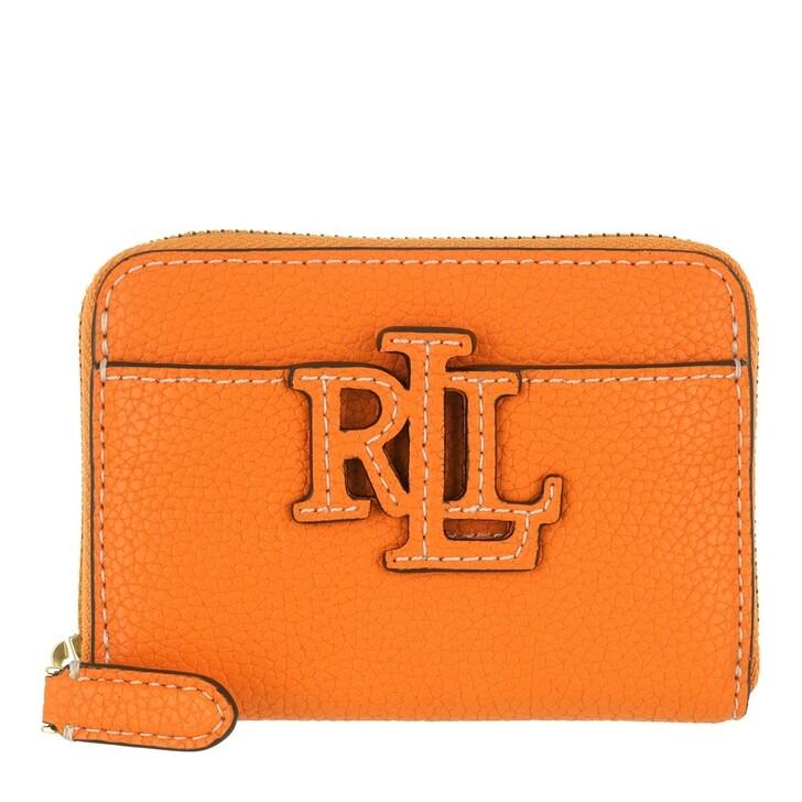 Geldbörse, Lauren Ralph Lauren, Logo Zip Wallet Small Nautical Orange