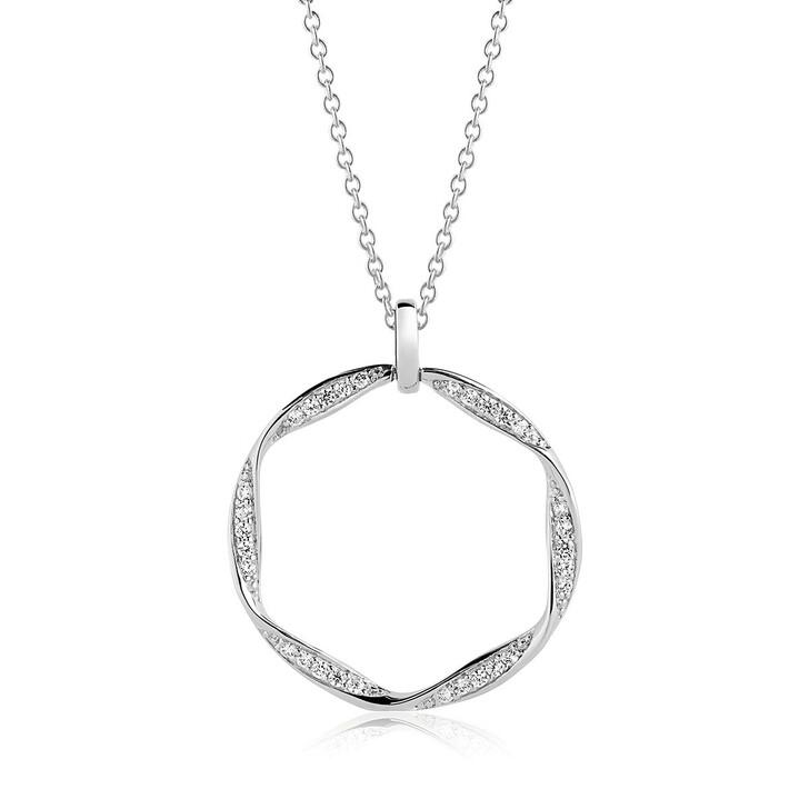 Kette, Sif Jakobs Jewellery, Cetara Grande Pendant 70cm Silver