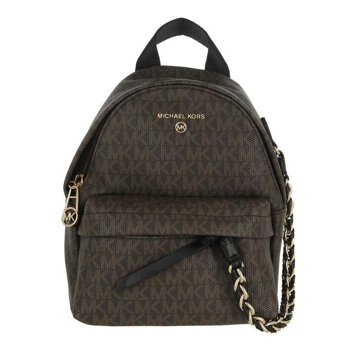 bags, MICHAEL Michael Kors, Xs Cnv Messenger Backpack Brown/Black