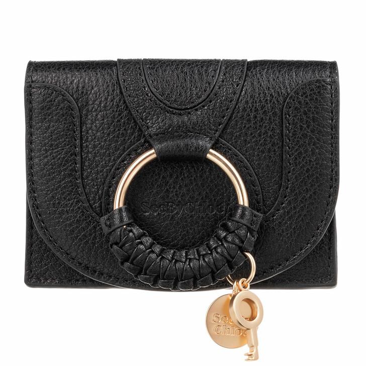 Geldbörse, See By Chloé, Hana Card Holder Leather Black