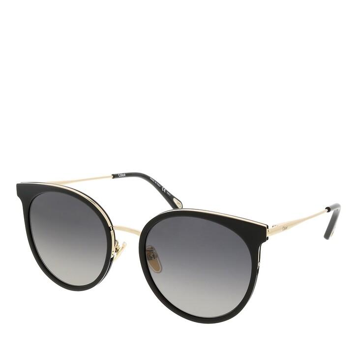 sunglasses, Chloé, CH0060SK-001 56 Sunglass Woman Bio Acetate Black-Gold-Grey