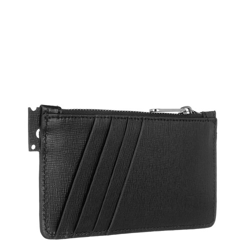 Off-White Portefeuilles, Logo Zip Card Holder en noir - pour dames