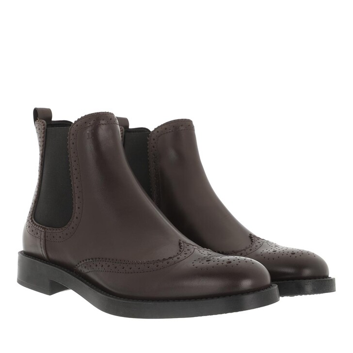 Schuh, Tod's, Ankle Boots Leather Dark Brown