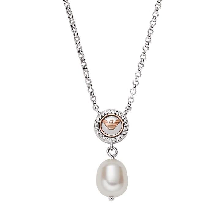 Kette, Emporio Armani, Sterling Silver Pendant Necklace Silver