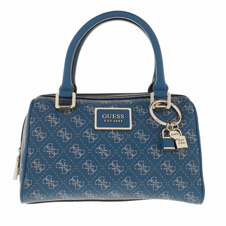 bags, Guess, Tyren Box Satchel Blue