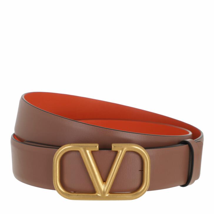 belts, Valentino Garavani, Reversible Belt Leather Antique Brass