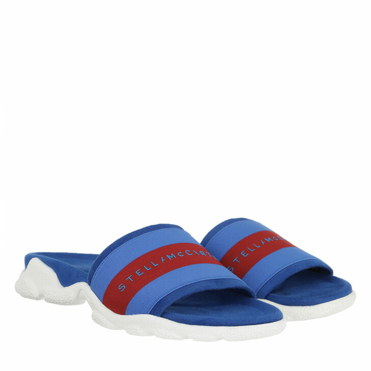 Schuh, Stella McCartney, Striped Slides Blue