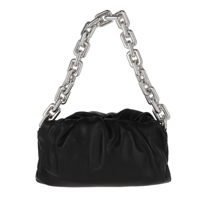 Handtasche, Bottega Veneta, The Chain Medium Pouch Leather Black