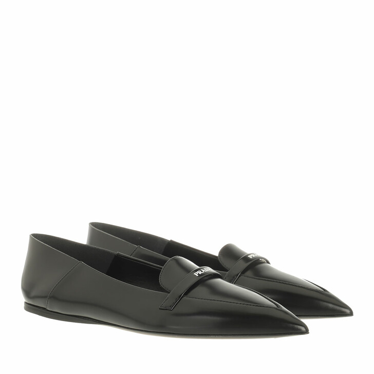 Schuh, Prada, Loafers Black