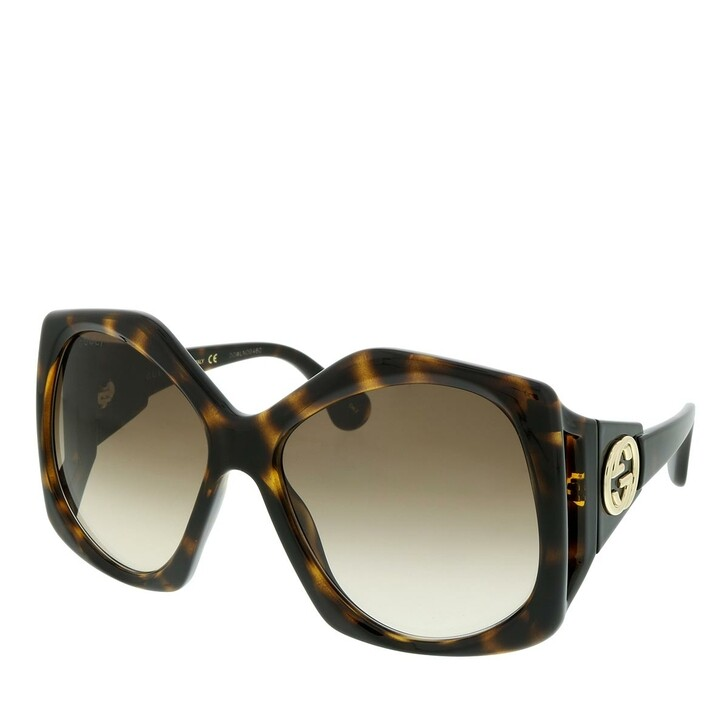Sonnenbrille, Gucci, GG0875S-002 62 Sunglass WOMAN INJECTION HAVANA