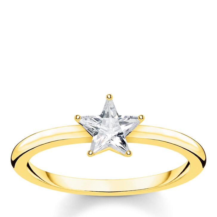 rings, Thomas Sabo, Ring Sparkling Star Gold