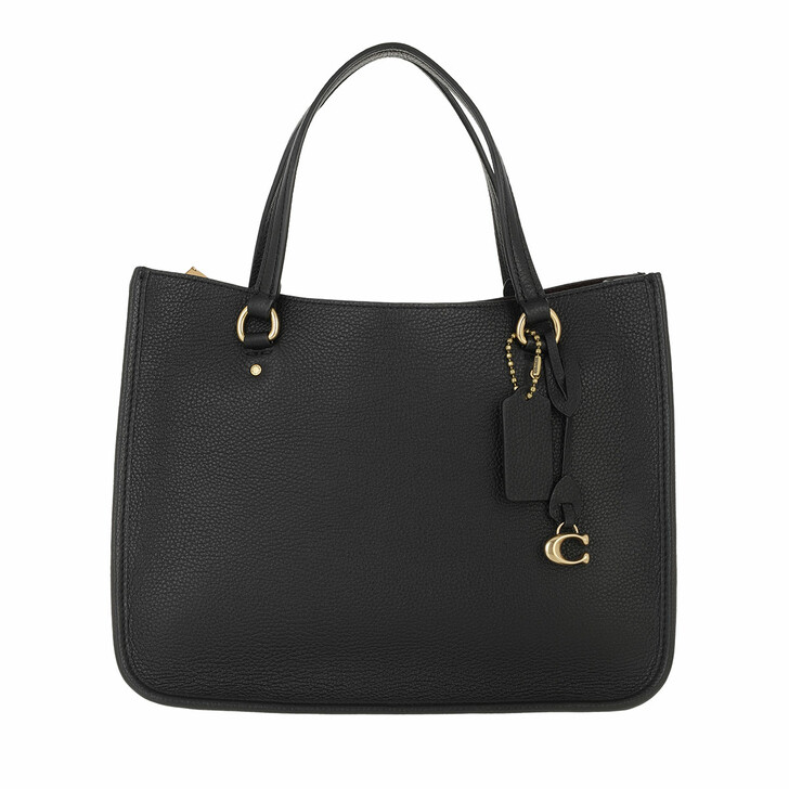 bags, Coach, Polished Pebble Leather Tyler Carryall 28 B4/Black