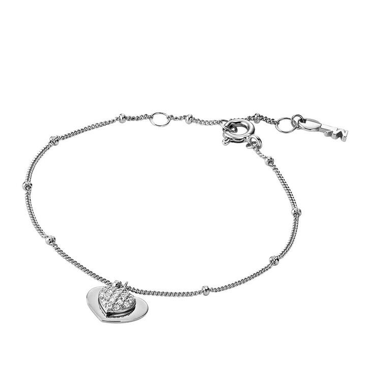 Armreif, Michael Kors, MKC1118AN040 Love Heart Duo Bracelet Silver