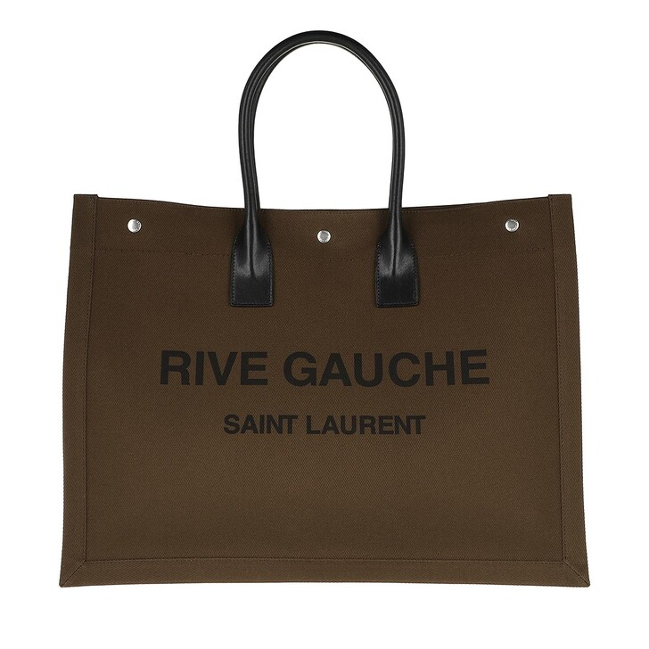 Handtasche, Saint Laurent, Men Rive Gauche Tote Bag Dark Khaki
