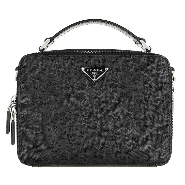 Handtasche, Prada, Triangle Logo Crossbody Bag Black
