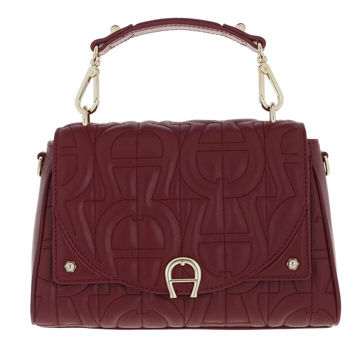 bags, AIGNER, Diadora Handbag Burgundy
