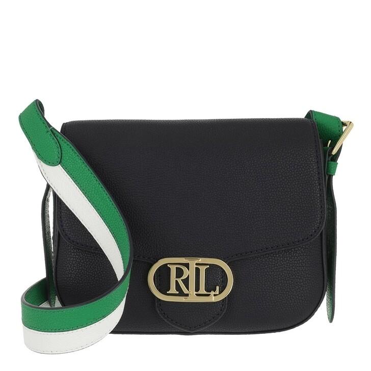 bags, Lauren Ralph Lauren, Addie 24 Crossbody Medium Lauren Navy/Snow White/Antibes Green