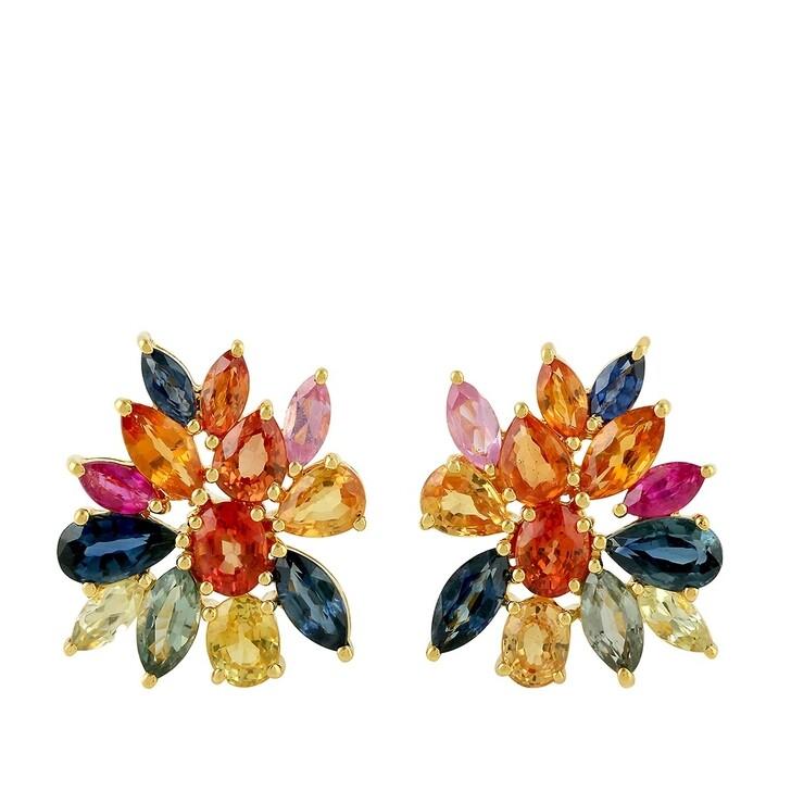 earrings, Evél Juwel, Rainbow studs Yellow Gold