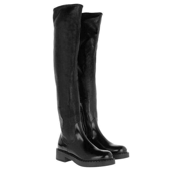 Schuh, Prada, Over Knee Boots Black