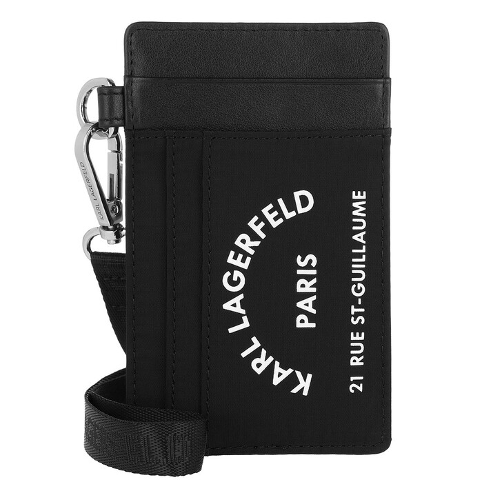 Geldbörse, Karl Lagerfeld, Rue St Guillaume Card Holder  Black