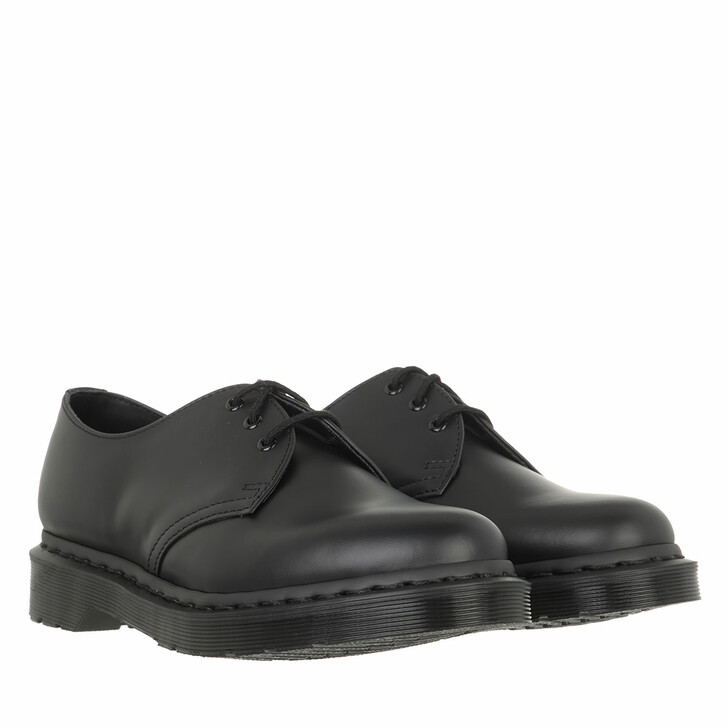 shoes, Dr. Martens, 1461 Mono Smooth Black Smooth