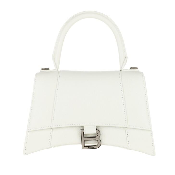 Handtasche, Balenciaga, Hourglass Small Handle Bag White