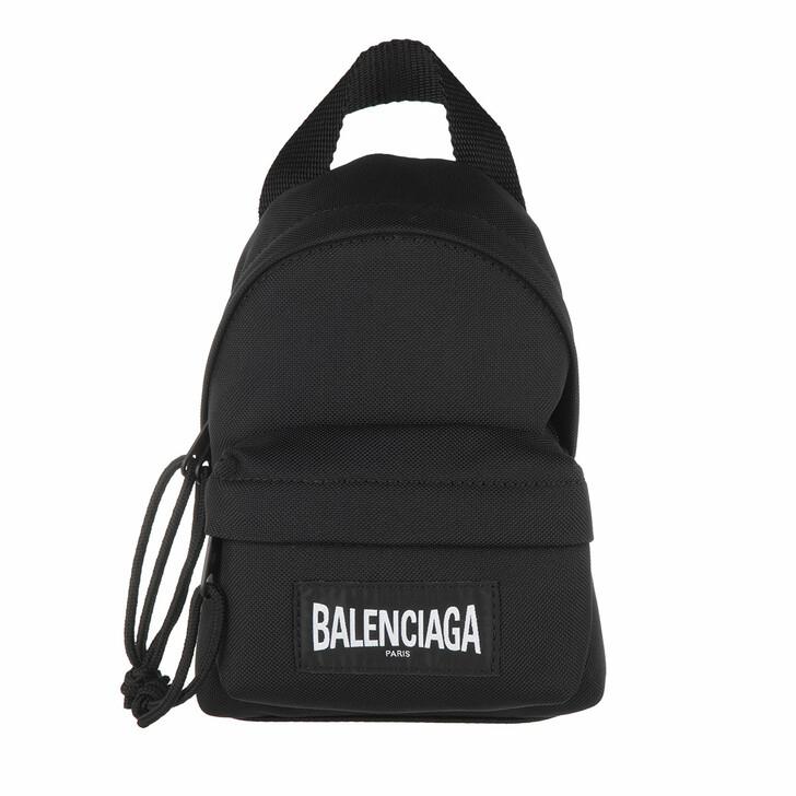 Reisetasche, Balenciaga, Mini Logo Backpack Black