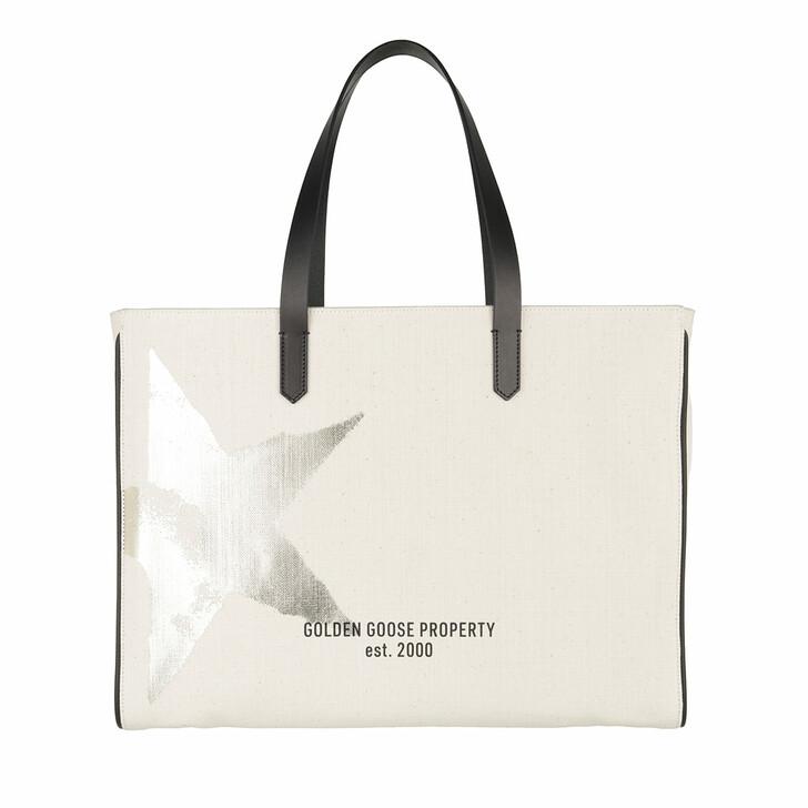 Handtasche, Golden Goose, California Star Tote Bag White/Gold