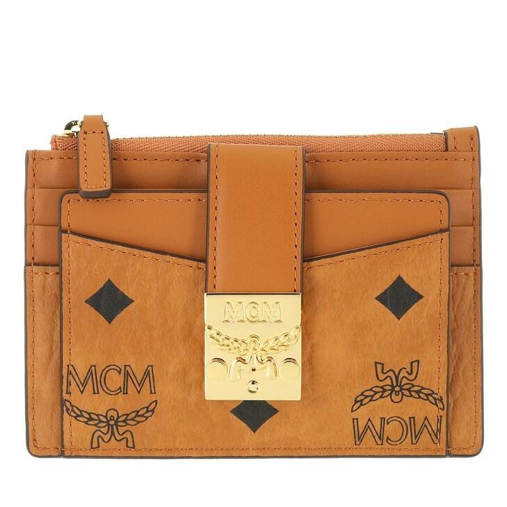 Geldbörse, MCM, Patricia Visetos Zip Card Case Co,  Cognac