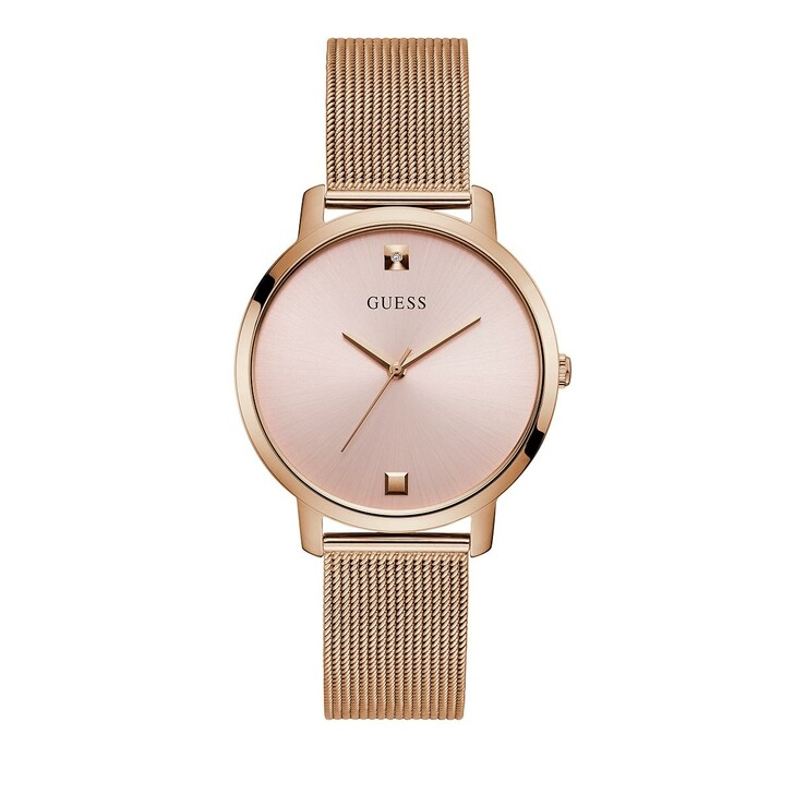 Uhr, Guess, Ladies Dress Stainless Steel/Mesh Watch Rose Gold Tone